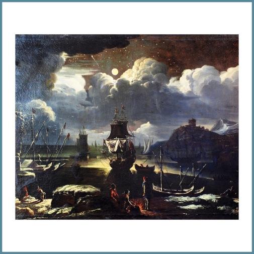 Pieter Mulier detto Cavalier Tempesta (1637-1701), Marina dopo la tempesta - La notte di San Lorenzo
